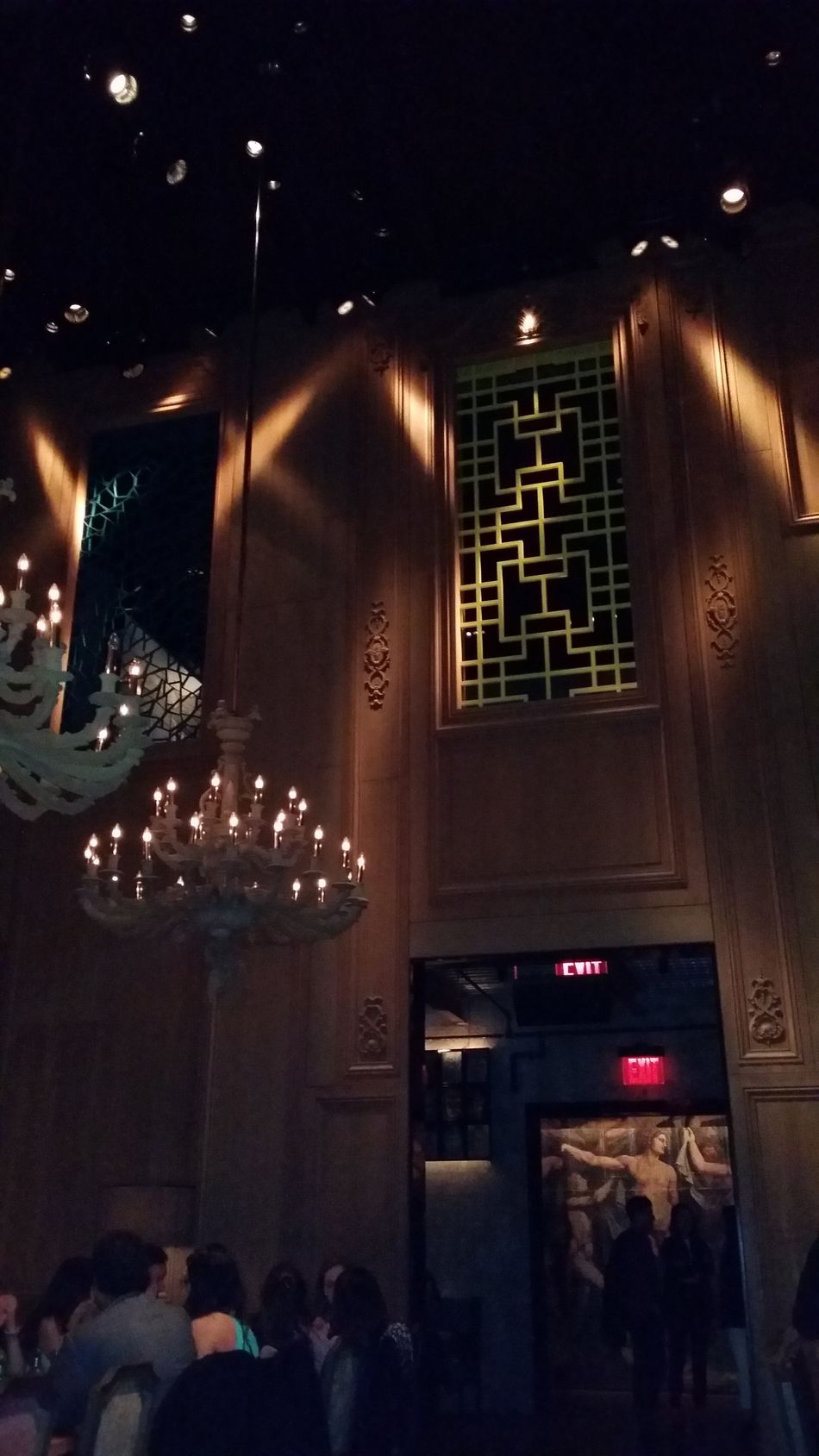 Chandeliers Party Girls Restaurant Hanging Out Date Night