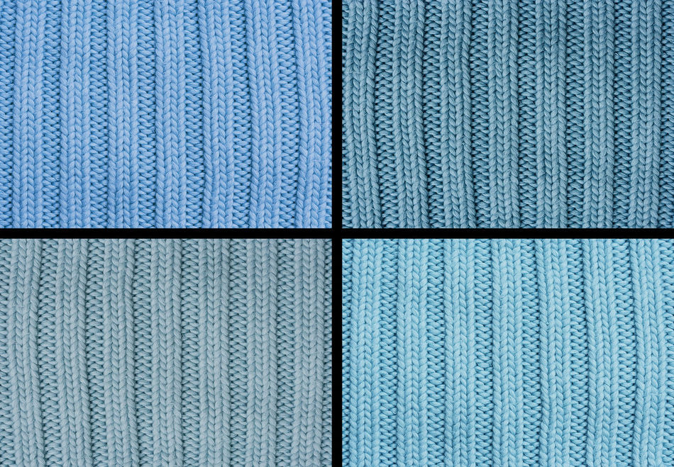 Composing of four woolen patterns - knitting pattern with purls and knits Backgrounds Blue Close-up Clothing Collage Fashion Four Full Frame Knit Knitted  Knitting Knitwear No People Pattern Quarter  Repetition Shades Of Blue Striped Stripes Pattern Sweater Textured  Textures And Surfaces Warm Clothing Wool Woolen