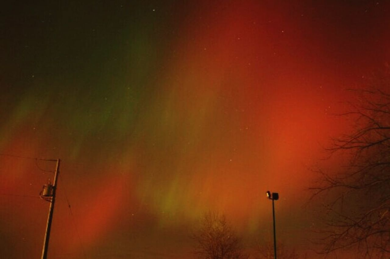 Northern Lights Sky Night Colorfull