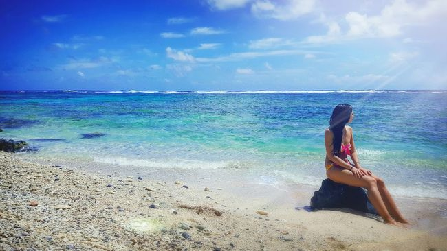 Sunshine Picoftheday Pretty Girl Caribbean Blue Nature Blue Explosion Blue Dominican Republic Memories Love Is In The Air Bikini Holiday Woman Water Paradise Keepcalm