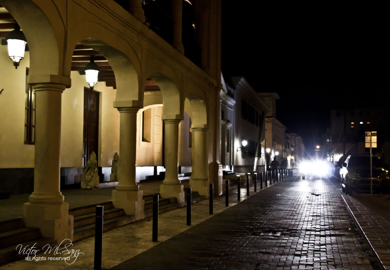 night, illuminated, architecture, built structure, building exterior, architectural column, outdoors, city, no people