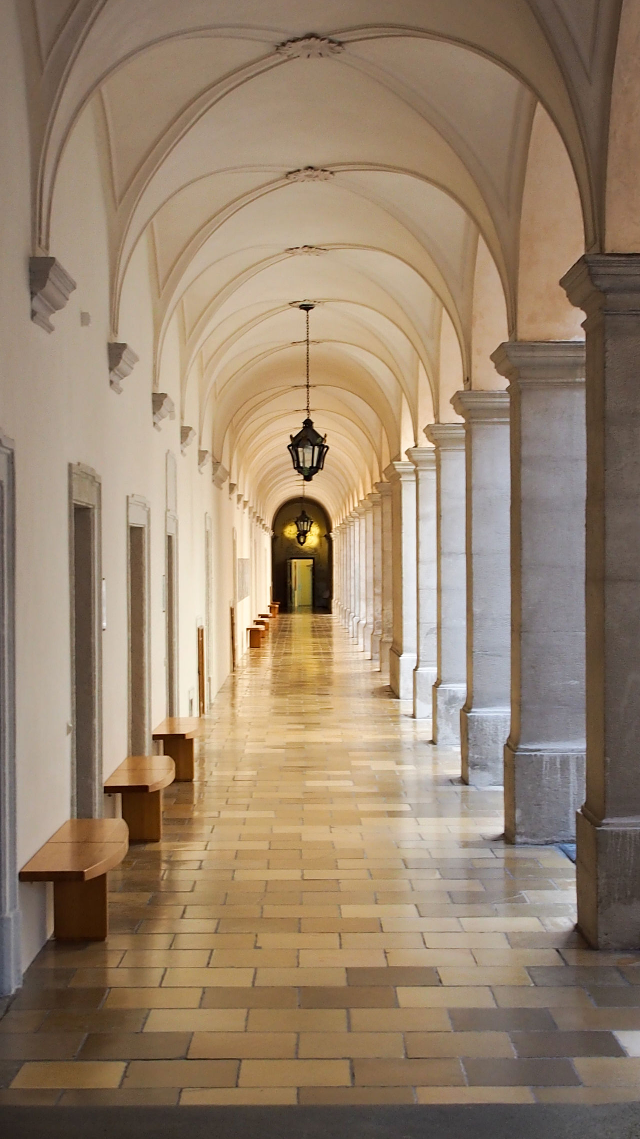 Arcade Arch Arched Architectural Column Architecture Archway Bradley Olson Bradleywarren Photography Ceiling Colonnade Column Corridor Day Diminishing Perspective Flooring In A Row Indoors  Long Pendant Light Repetition SUPPORT The Way Forward Tiled Floor Tourism Vanishing Point