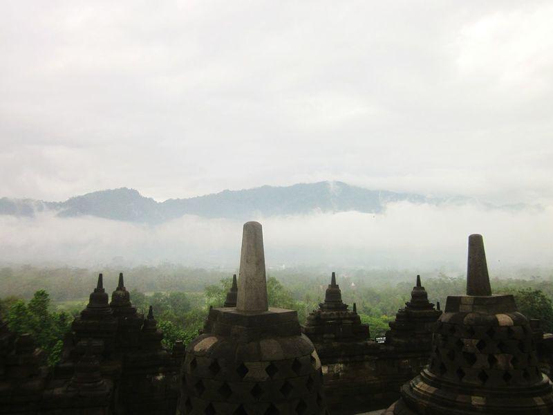 Morning borobudur Temple indonesia Central Java heritage Culture