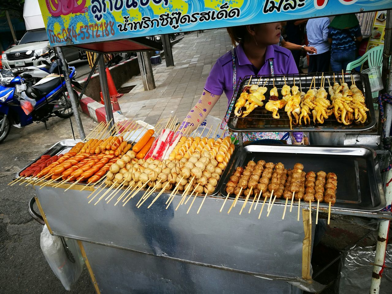 Grilled Food Street Food Ready-to-eat Foodstall Bangkok Thailand Bangkok Streetphotography Street Photography Streetphotography Streetphotographer EyeEm Best Shots - The Streets Real People EyeEm EyeEm Best Shots EyeEm Gallery EyeEmBestPics Eyeemphotography Color Photography Colour Photography Foodvendor