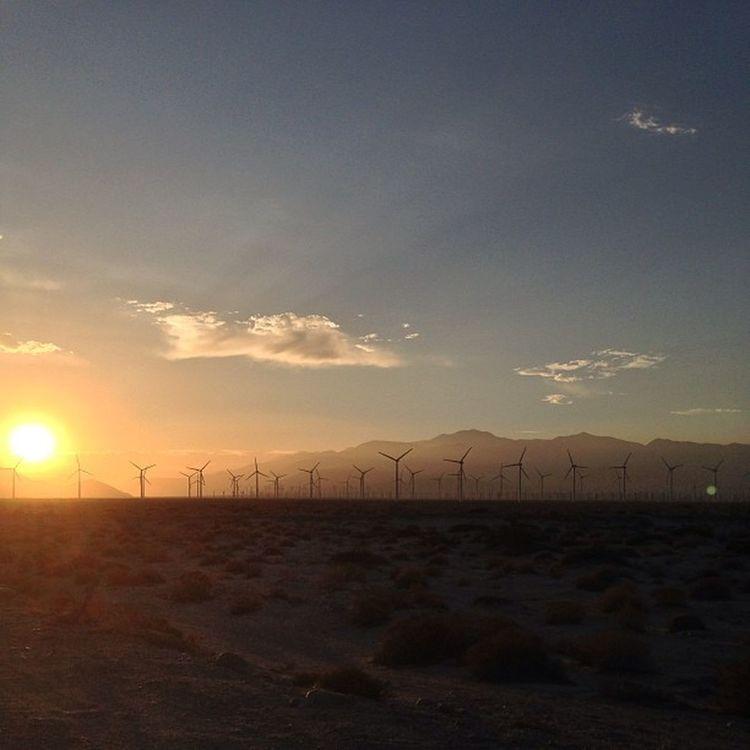 #nofilter #windmills #desert #sunset Desert Sunset Windmills Nofilter