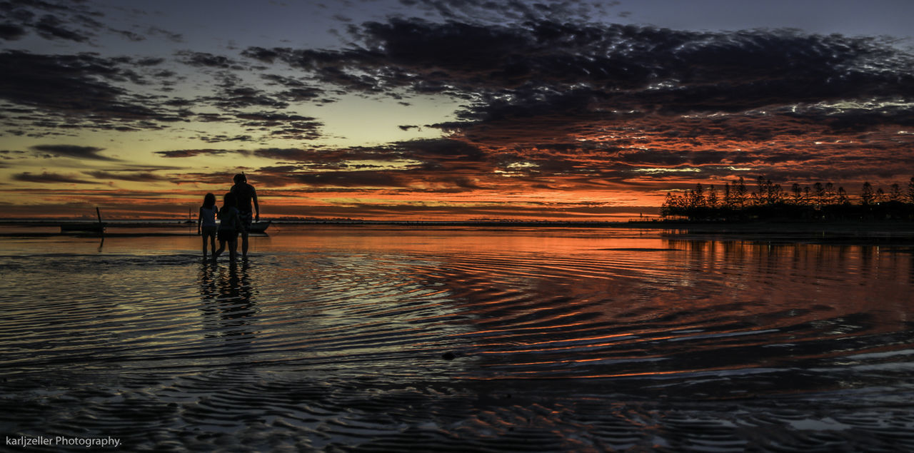 Heading home. Beach Beauty In Nature Day Fisherman Full Length Leisure Activity Lifestyles Men Nature One Person Outdoors People Real People Reflection Scenics Sea Silhouette Sky Standing Sunset Tranquil Scene Tranquility Tree Water