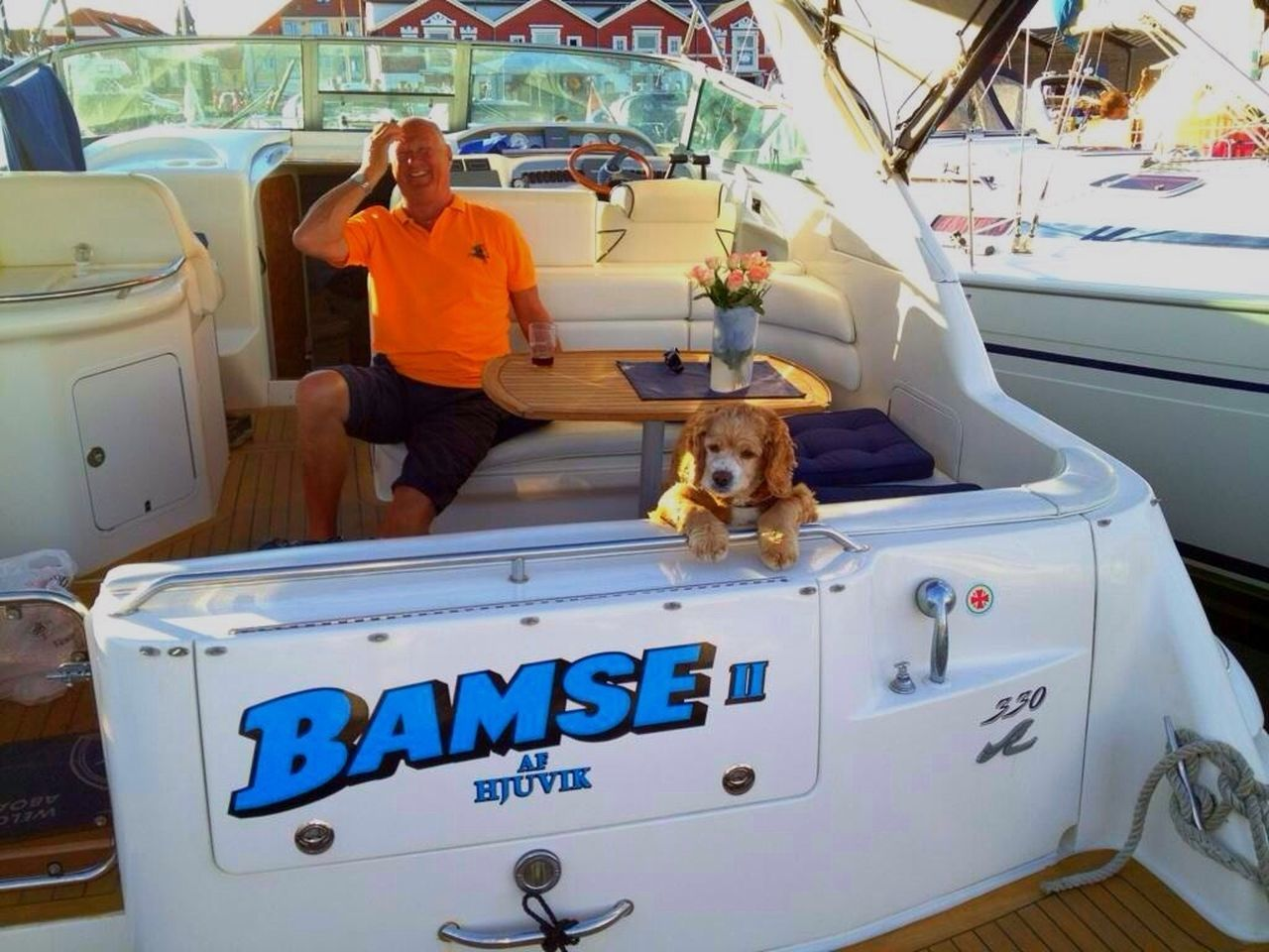 My husband Benny and my wounderful dog Bamse and our boat Bamse Streamzoofamily Eye Em Nature Lover Boats Landscape_Collection