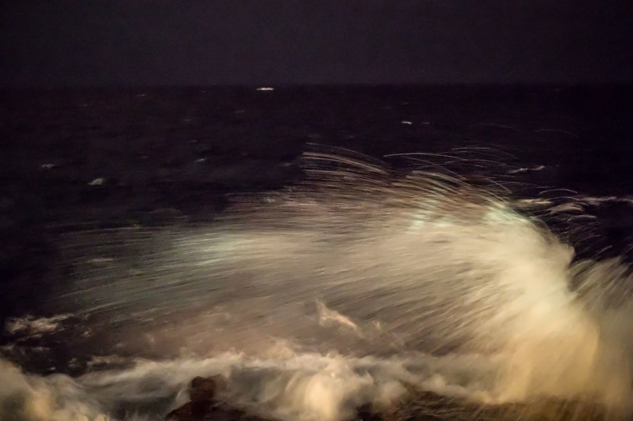 Malecon at night Beauty In Nature Cuba Cuba Collection Long Exposure Malecon Motion Nature Night Nightphotography No People Outdoors Power In Nature Scenics Sea Sky Speed Splashing Waves Travelling Photography Water Wave