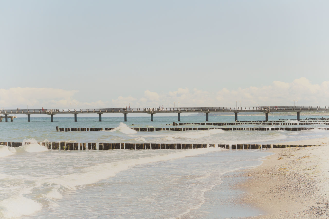 Seebrücke Baltic Sea Beach Beauty In Nature Day Heiligendamm Nature No People Ostsee Outdoors Salt - Mineral Sand Scenics Sea Sea Bridge Seebrücke Sky Tranquil Scene Tranquility Water