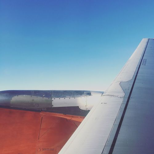 Clear Sky Blue Airplane Day No People Airport Air Vehicle Outdoors Sky Nature Runway Airplane Wing Traveling Home For The Holidays