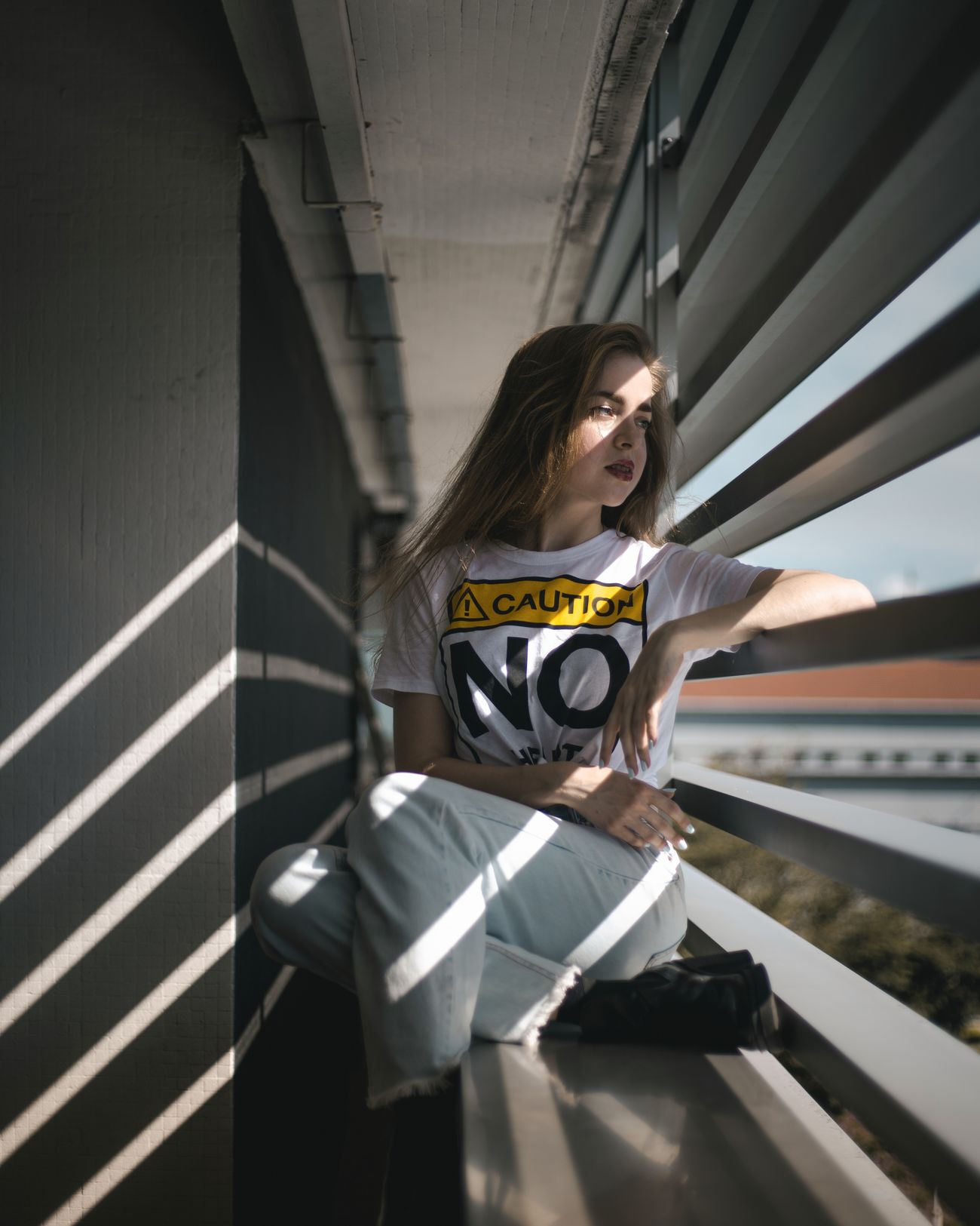 Carpark hangs Indoors  Light And Shadow Natural Light Portrait Light Beautiful People Women Of EyeEm Side Profile Portraits Of EyeEm Portrait Of A Girl Portrait Of A Woman Portrait Photography Fashion Photography Light Rays Women Around The World