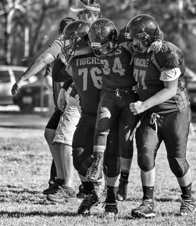 Black & White Football Highschool Los Angeles, California canon 5D