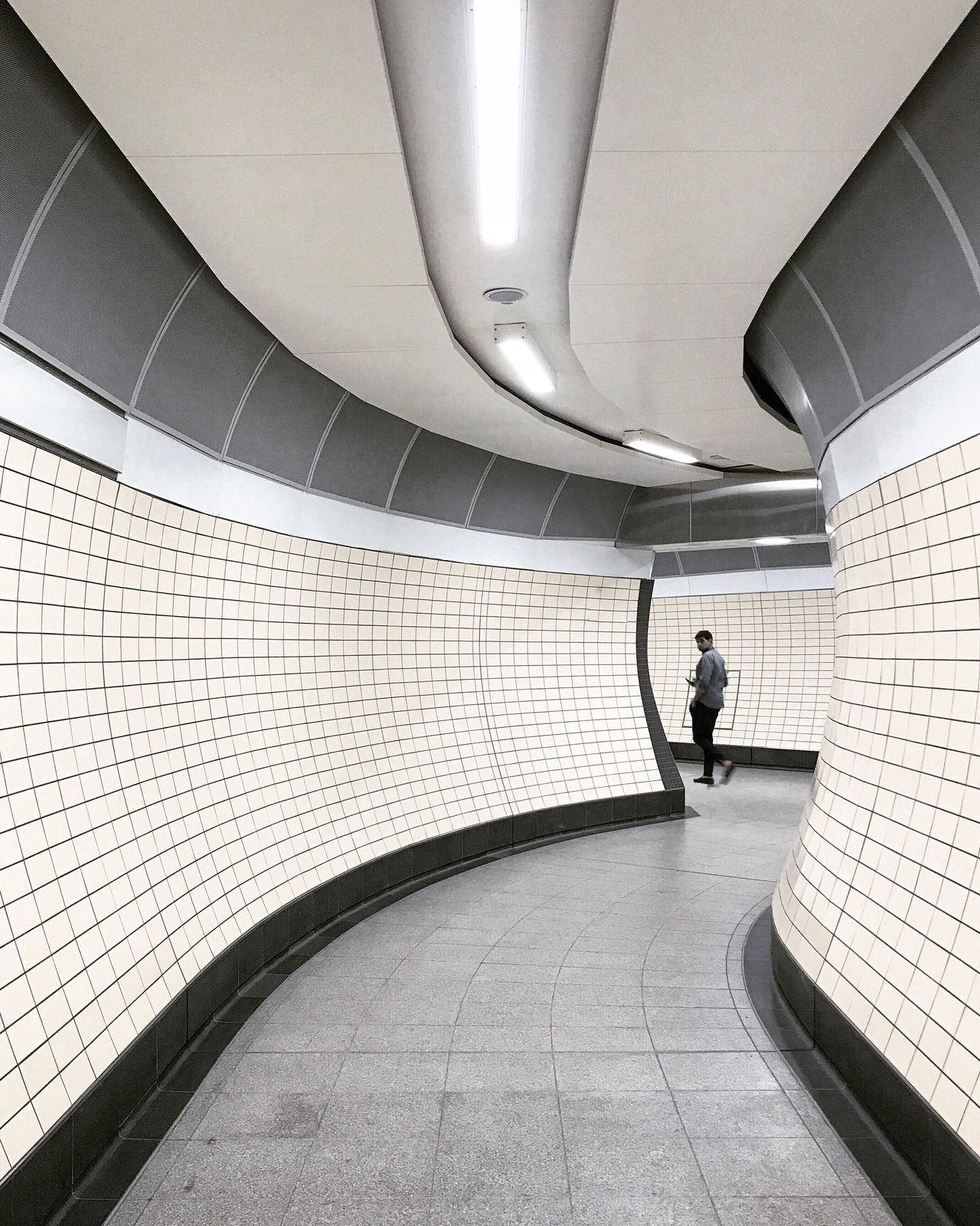 EyeEm LOST iN London one person full length Architecture walking indoors built structure the way forward Modern Futuristic one man only tunnel Underground London