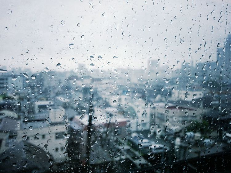 Backgrounds Close-up Cloud - Sky Day Drop Focus On Foreground Full Frame Glass - Material Looking Through Window Nature No People Outdoors Rain RainDrop Rainy Season Sky Transparent Transportation Tree Water Weather Wet Window