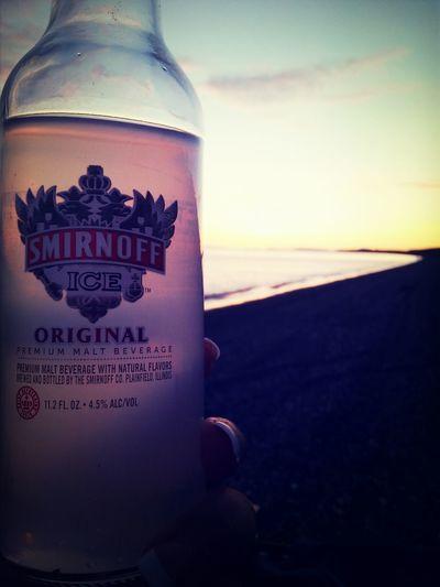 Amazing weekend. Smirnoff Ice On The Beach Sunset Saturdaynight