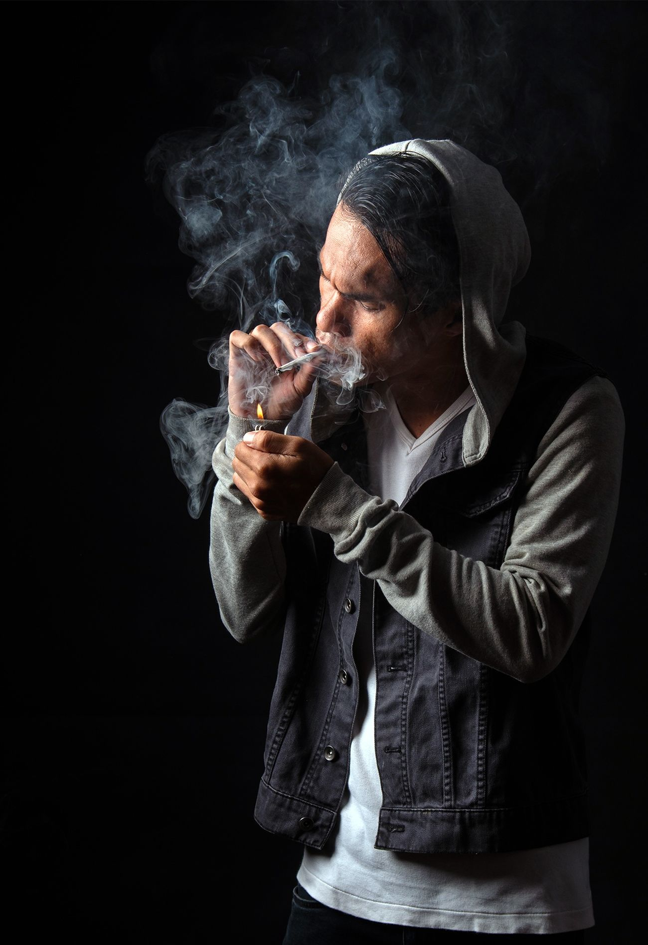 Taking Photos Photostudio Smoker Selfie