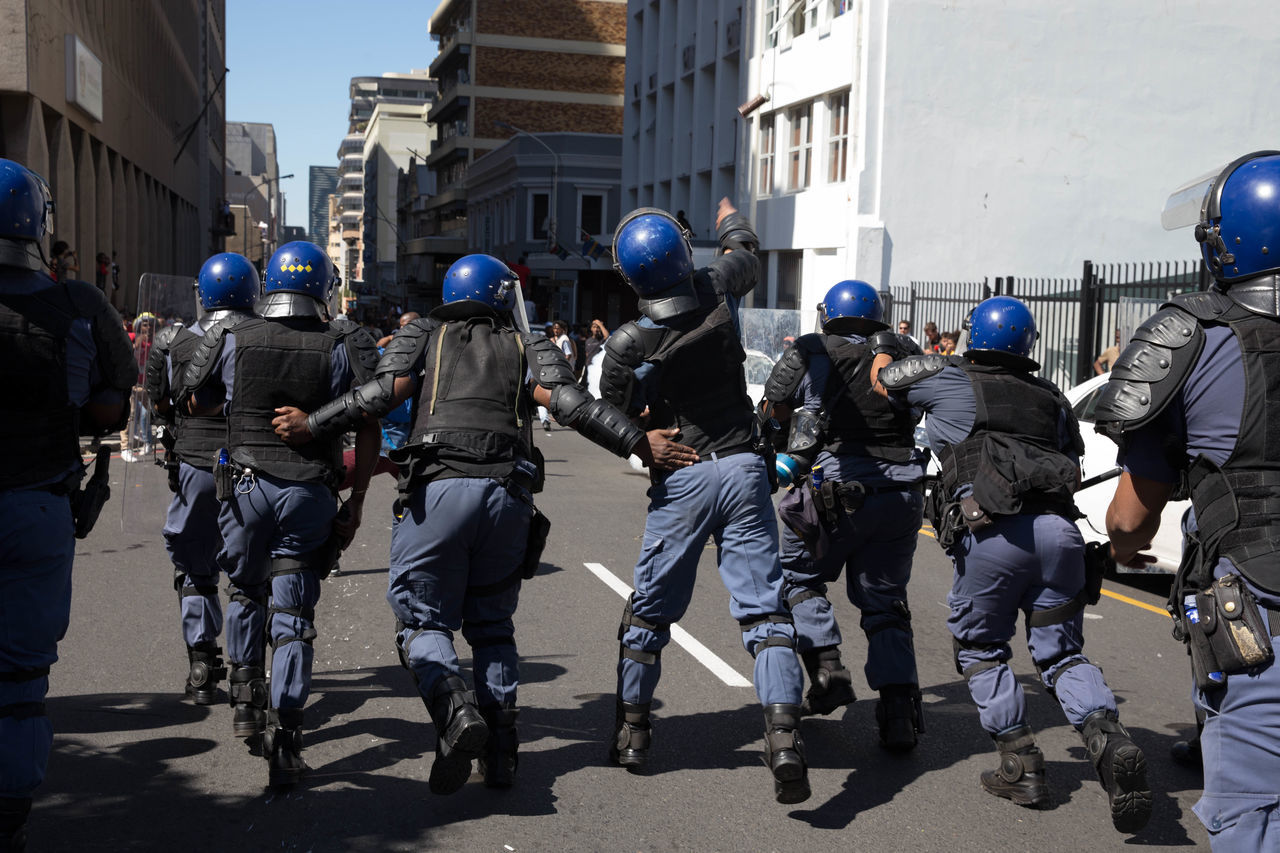 The South African Police service disperse protestors of the Fees Must Fall movement with Stun Grenades. 28th of October 2016 Cape Town Feesmustfall South Africa The Photojournalist - 2017 EyeEm Awards