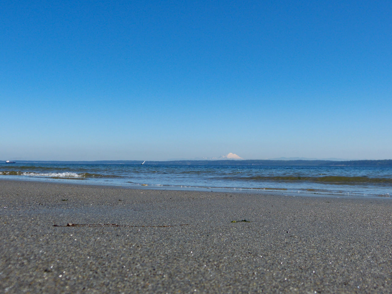 Beach Beach Photography Beachphotography Beauty In Nature Blue Clear Sky Coastline Day Idyllic Mt. Baker Nature No People Non-urban Scene Outdoors Remote Scenics Sea Shore Sky Tranquil Scene Tranquility Water