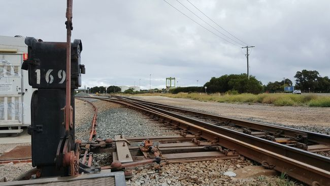 Railroad Track Train Track Rail Transportation Transportation Public Transportation Railroad Station Railroad Station Platform Railway Track Connection Travel Train - Vehicle Railway Signal Sky Train Tracks Rust Rustic Rusty