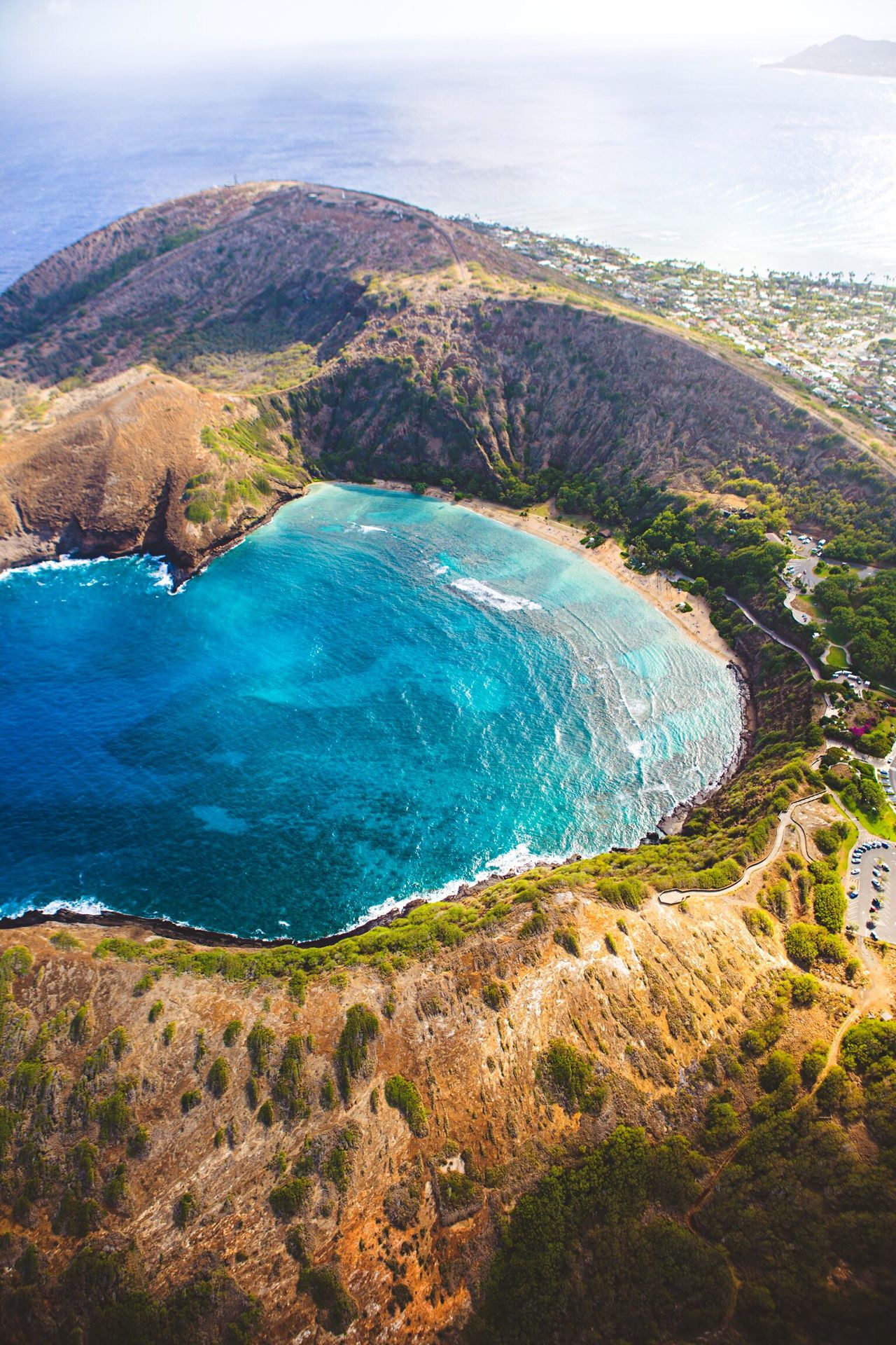 Hanauma bay, Oahu, HI. The Great Outdoors - 2016 EyeEm Awards Hawaii Traveling Wanderlust Wonder Sacred Places Waterfall Mountains Landscape_photography Landscape Water Portraiture Nature_collection Hawaiian Helicopter Aerial Shot Aerial View