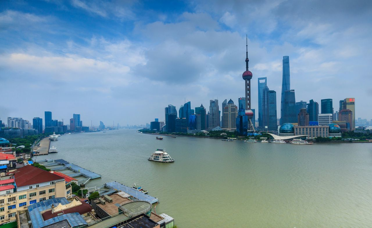 Beautiful stock photos of shanghai, Architecture, Boat, Building Exterior, Built Structure