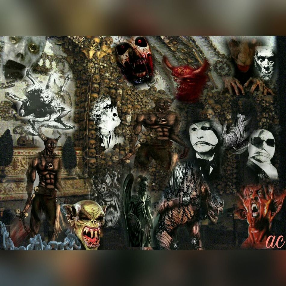 THE CRYPT Creepy Scary Stuff  Collage Halloween Collageoftheday Collageart Surrealism And Fantasy Art