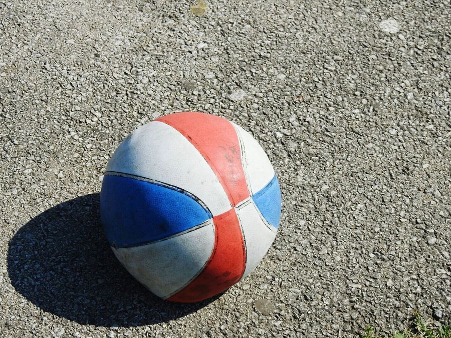 Day Sand High Angle View Outdoors Sport Beach Multi Colored No People Close-up Basketball Basketball Is Life BasketBallneverStops Basketball Life Basketball <3