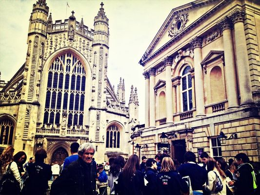 cityscapes at Bath Abbey by Melissa Law
