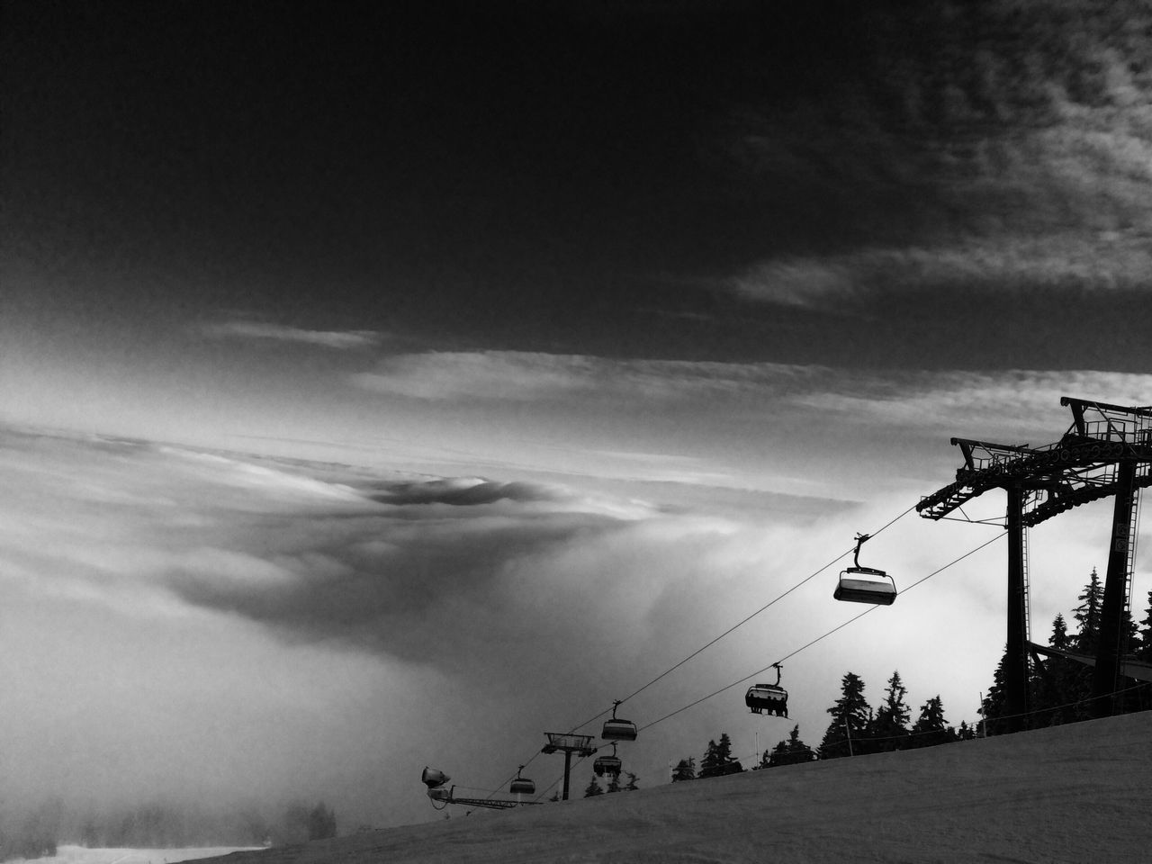 Skiing Cloud - Sky Sky Nature Mountain Snow Skiingislife
