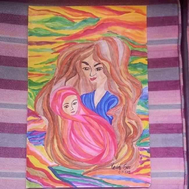Madonna and Child Motherandchild Painting Pinoyartist Pinoyart filipinoart filipinoartist filipino art asianartist itsmorefuninthephilippines wowphilippines watercolor