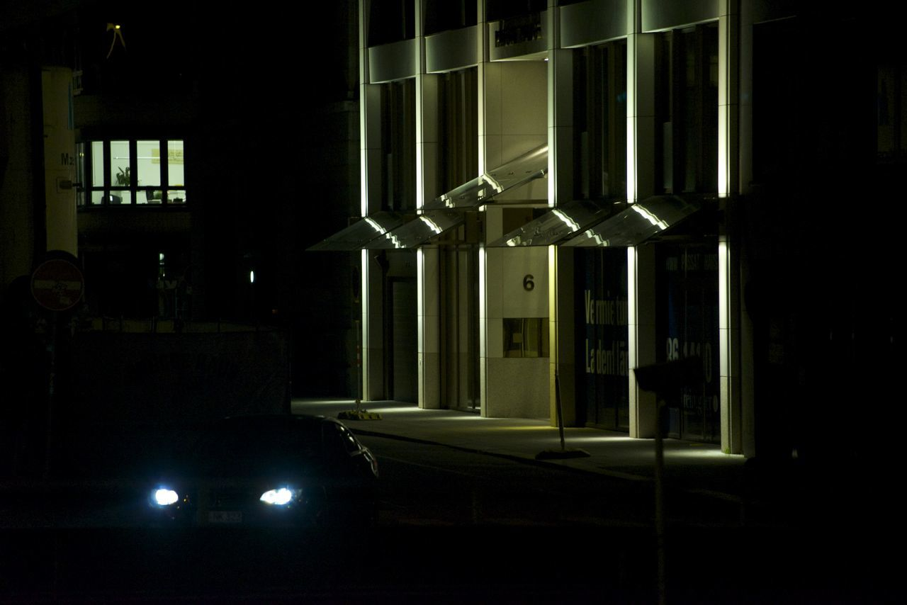 Car at Night Architecture Car Headlights Night No People Office Block Tower Block Light & Shadow City Of London Cityscape Urban Landscape Outdoors Wind