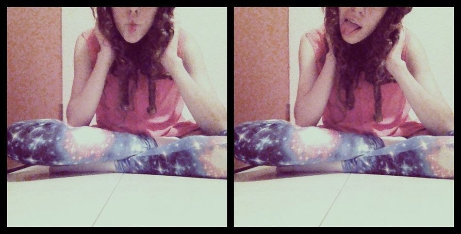 Hanging Out Galaxy Hipster Leggings