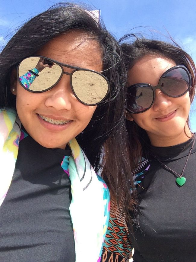 Groupfie with my beautiful BFF / baby sister on a very beautiful Luli Island :) Sunglasses Two People Looking At Camera Portrait Friendship Fun Smiling Only Women Young Adult Happiness Bonding Puerto Princesa Island Togetherness Looking At Camera Sisters Vacations Enjoyment Traveling Home For The Holidays EyeEm Best Shots Eyeem Photography Eyeem Philippines Finding New Frontiers