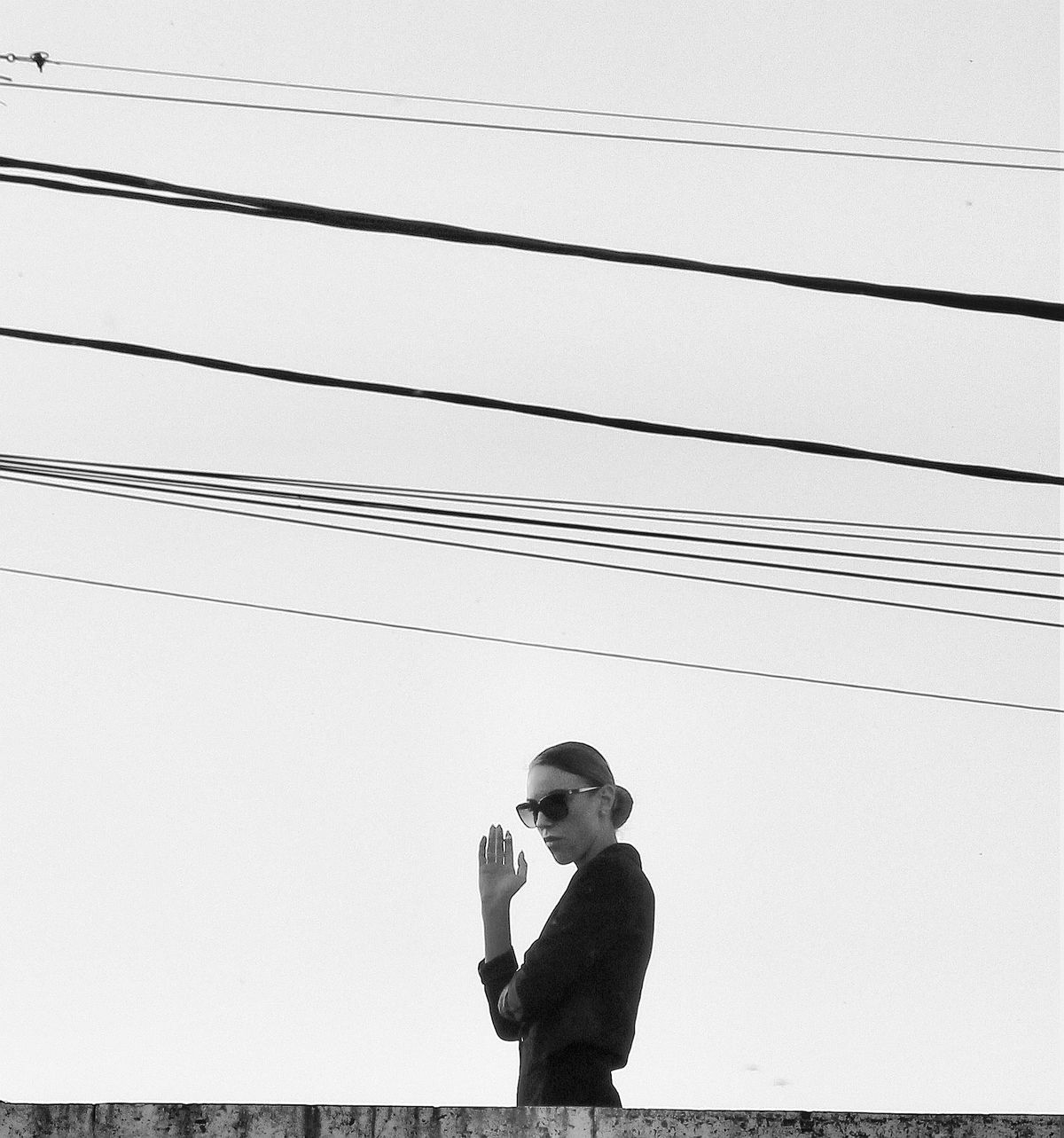 To ask or search, I blame thee not; for Heaven Is as the book of God before thee set Artistic Photo Black And White Cable Expression Fine Art Photography Lifestyles Minimal Composition Minimalism Minimalism_bw One Person Outdoor Photography Outdoors People Portrait Real People Silhouette Sky Streetphotography Urban Young Women