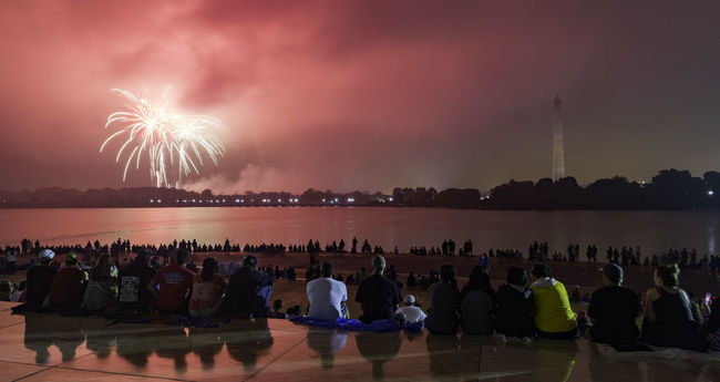 Fourth of July Fireworks from the Capital of the United States Beauty In Nature City City Life Cloud - Sky Cloudy DC Dramatic Sky Exploding Fireworks Glowing Illuminated Nature Night Outdoors Scenics Sky Tourism Travel Destinations Washington DC Washington, D. C. Water