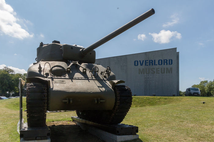 Overlord Museum, Colleville-sur-mer, Normandy, France, July 2017 D-Day II War World. Overlord Museum Exhibition Exhibits Exposure History Military Museum Omaha Beach Overlord Sherman Tank Tank Travel Destinations Weapon