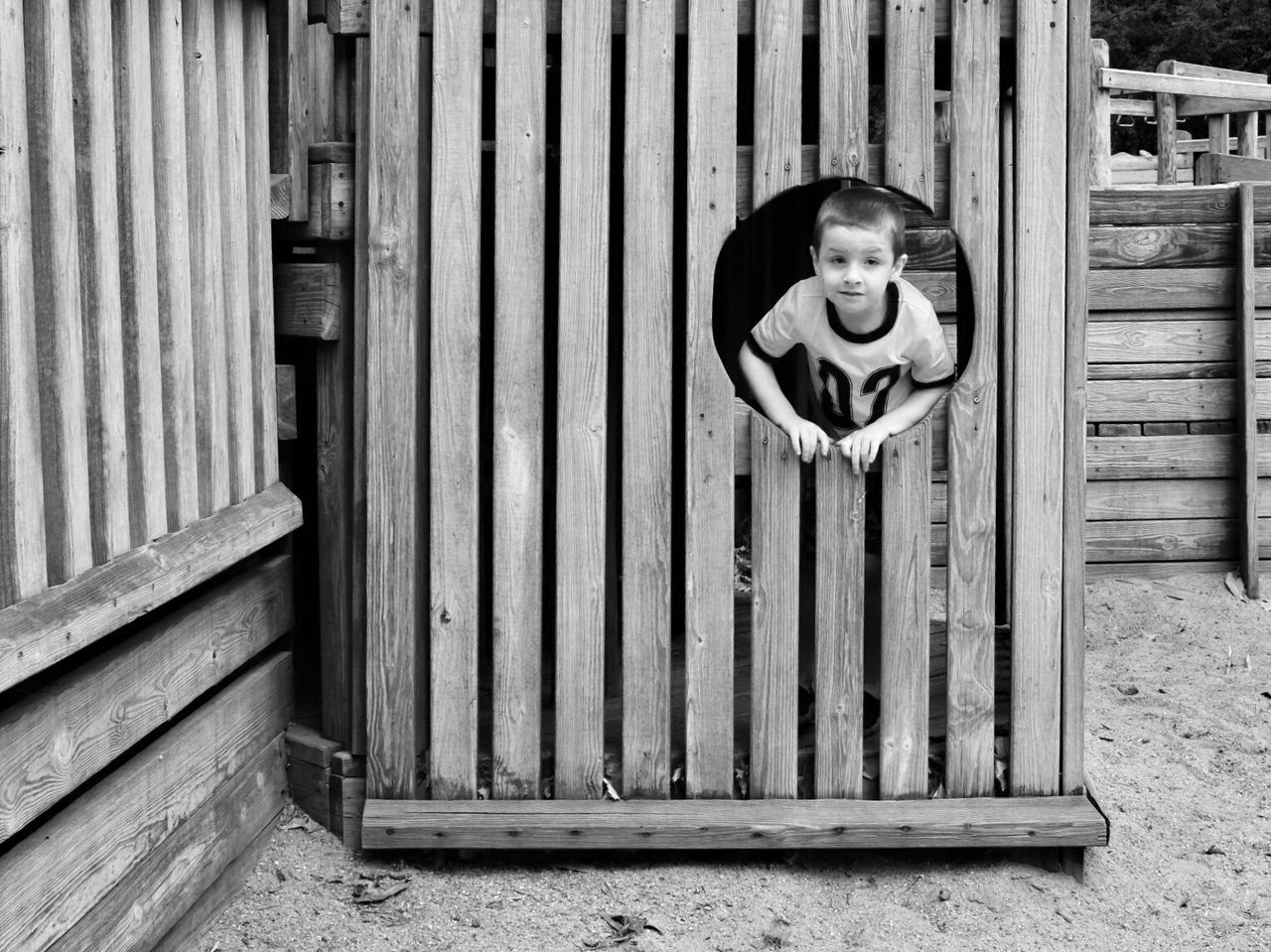 Wooden picture frame.. At The Park Check This Out B&W Portrait Childhood Negative Space