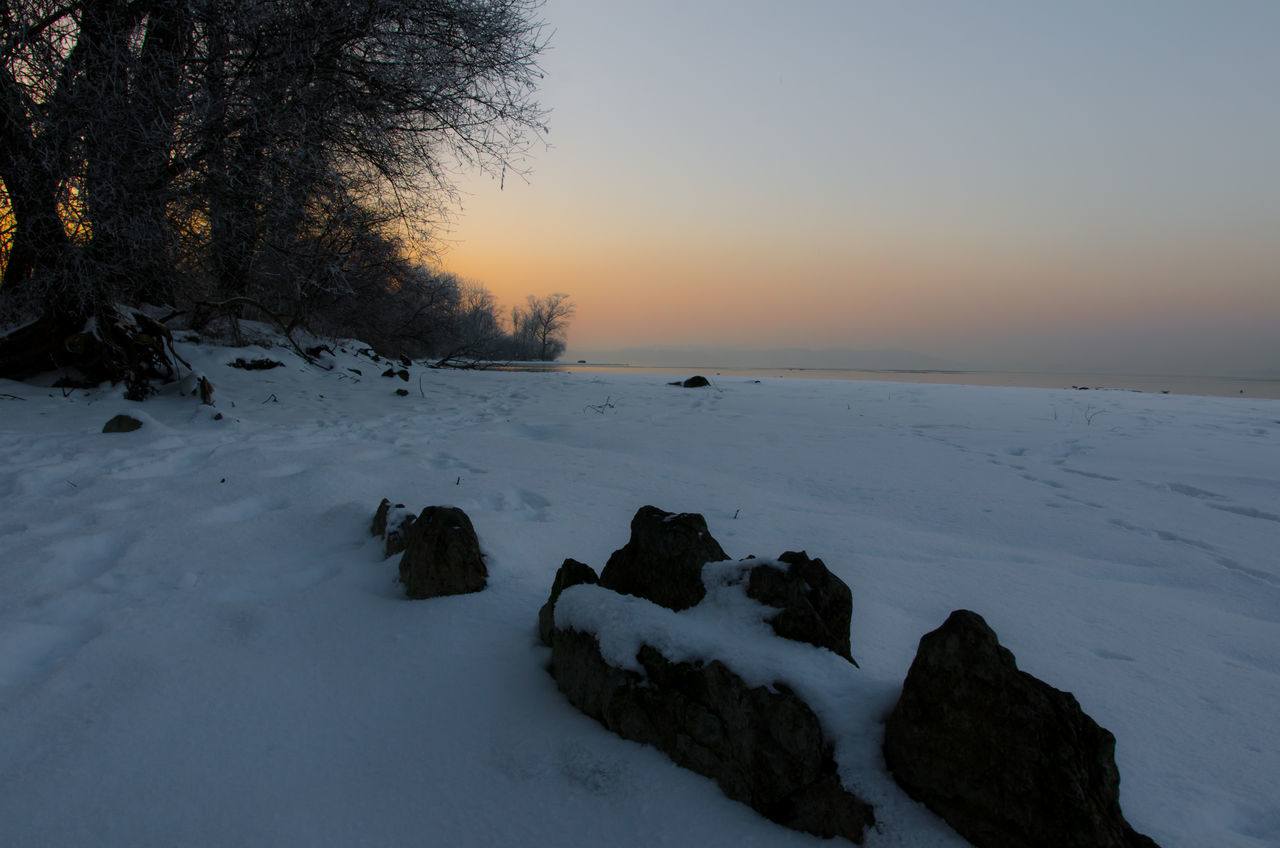 Atmospheric Mood Bavaria Beauty In Nature Blue Hour Chiemsee Cold Temperature Colors Day Landscape Nature No People Outdoors Scenics Shore Sky Sunset Tranquility Tree Winter