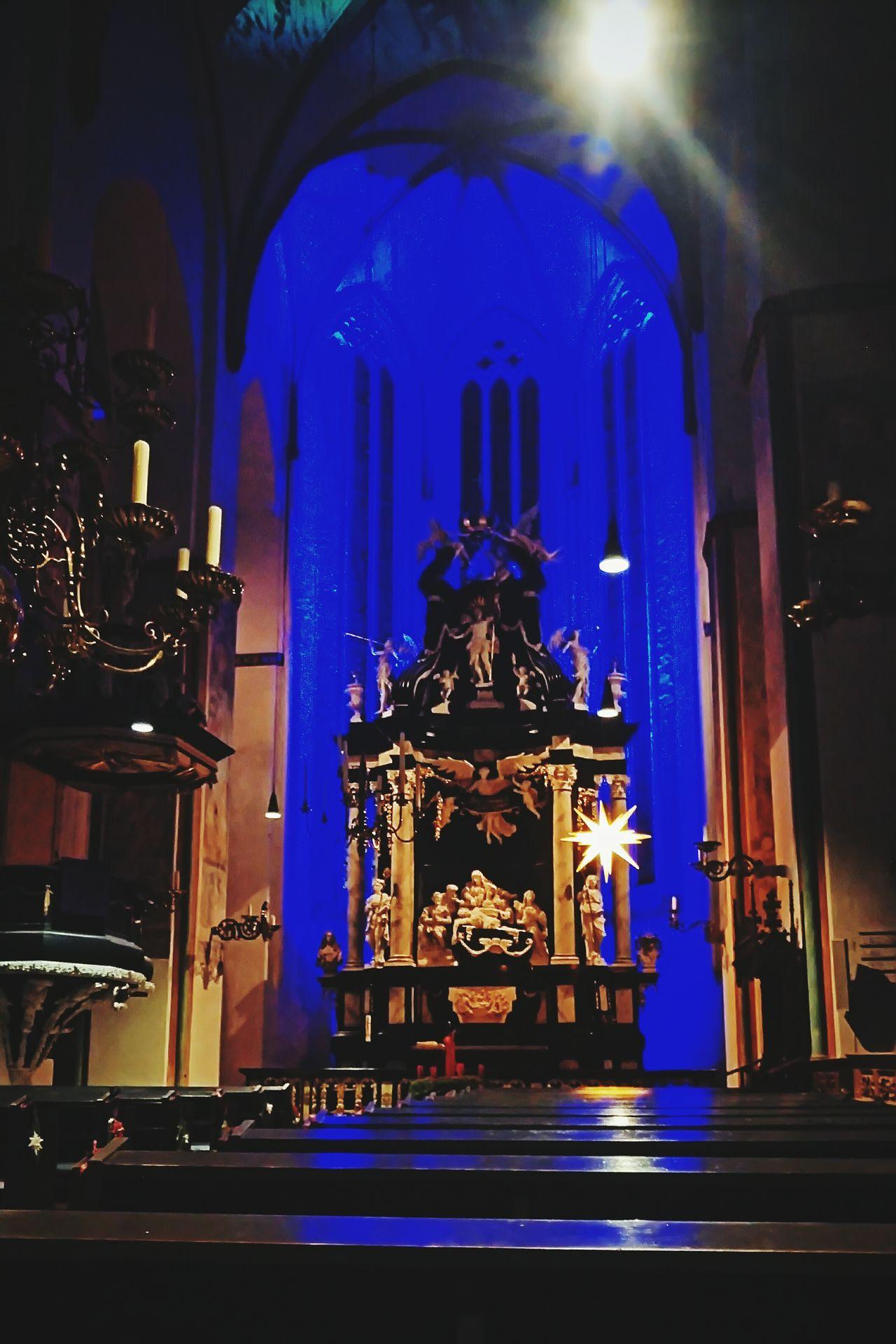 When religion meets visuals - Church European  Art Architecture Night Bluelight Lighting Modern Churchporn Religion Visuals