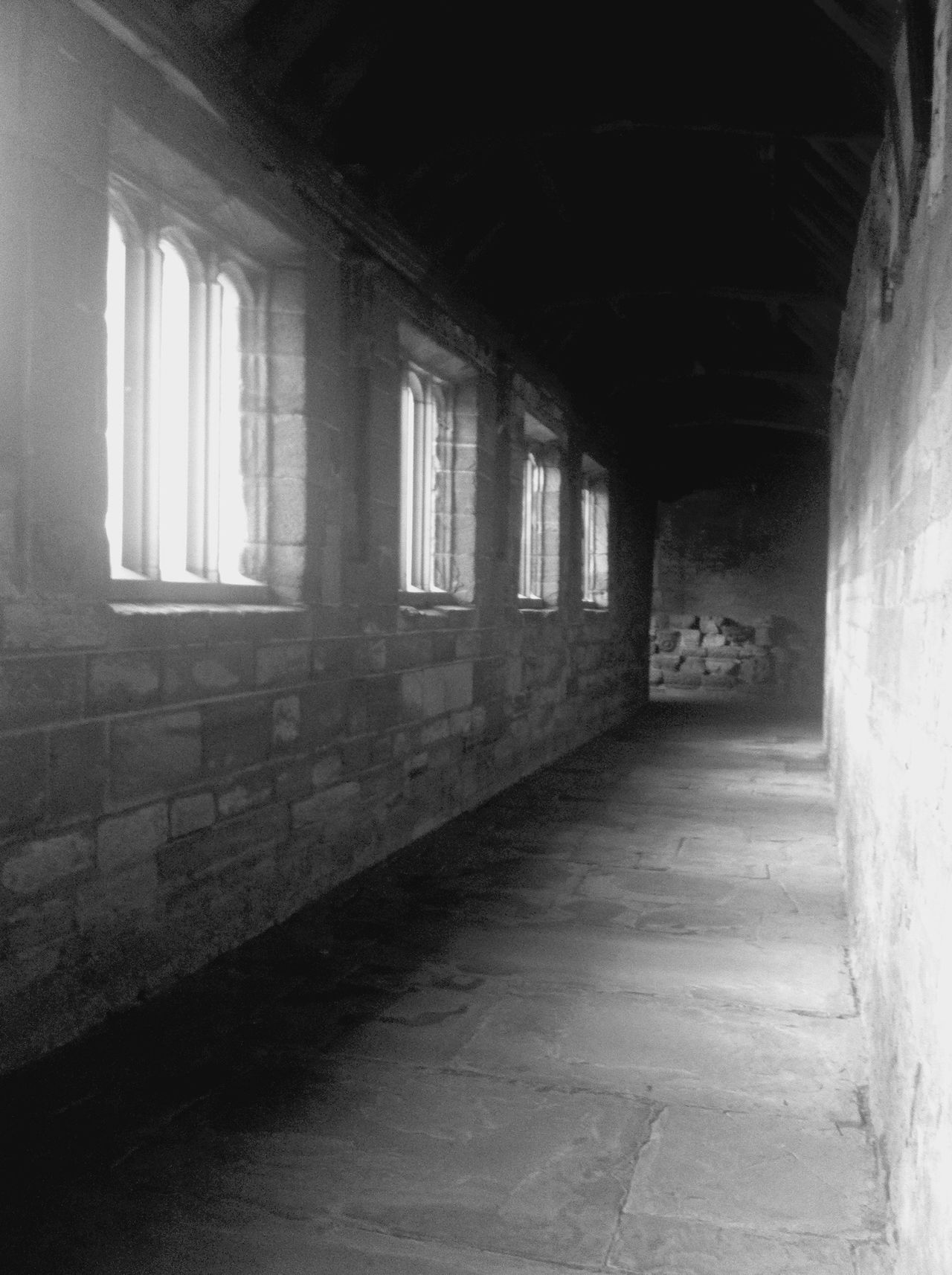 OpenEdit Blackandwhite Bnw_friday_eyeemchallenge Cloister Awesome Architecture Haunted? Hereford Cathedral Haunted Depth Of Field Light And Shadow Architecture Architecture_collection Black And White Bnw Melancholic