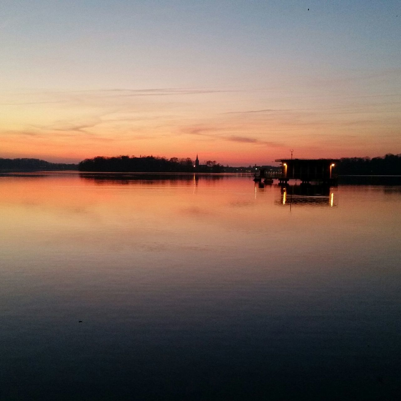 Sunset Reflection Water Sky Tranquility Beauty In Nature Scenics Nature Tranquil Scene Outdoors No People Photography Nature_collection Plönersee Plön Best  Sea Newbeginnings