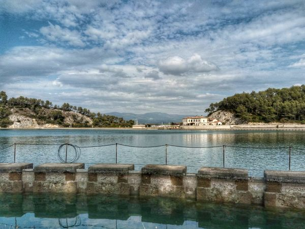 Sky Tree Cloud - Sky Water Outdoors Nature No People Day Scenics Lake Architecture Beauty In Nature Lake View Landscape_Collection France Tourism Provence France Canal De Marseille Barage Sky_collection Sky And Clouds Landscape Sky And Water Tranquility Provence Alpes Cote D'azur Barragem