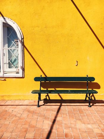 Yellow Architecture Built Structure Building Exterior No People Outdoors Day