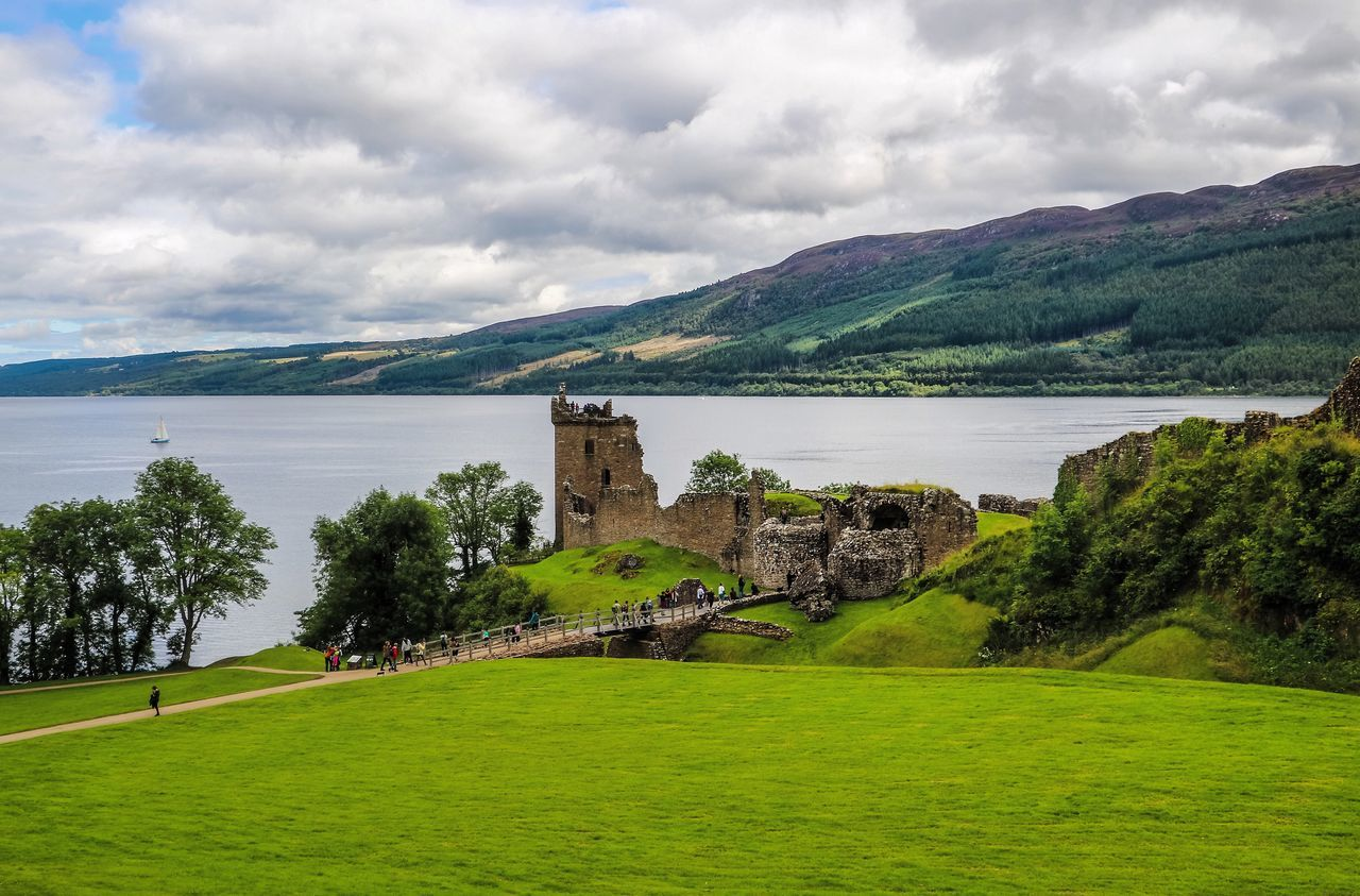 Cultures Grass Landscape Loch Ness Scotland Scotland 💕 Scotlandlover Scotlandsbeauty Scottish Highlands Travel Destinations UrquhartCastle