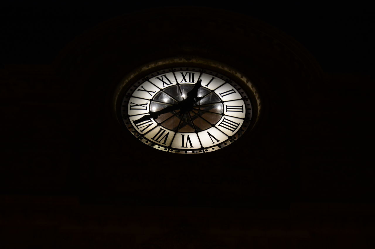 """ TheClock Face"" The Fine Art PhotographyMy Gallery Paris Orleans Nightphotography Night View Eyemphotography Eye4photography  Black And White Photography Urban Night Vision"