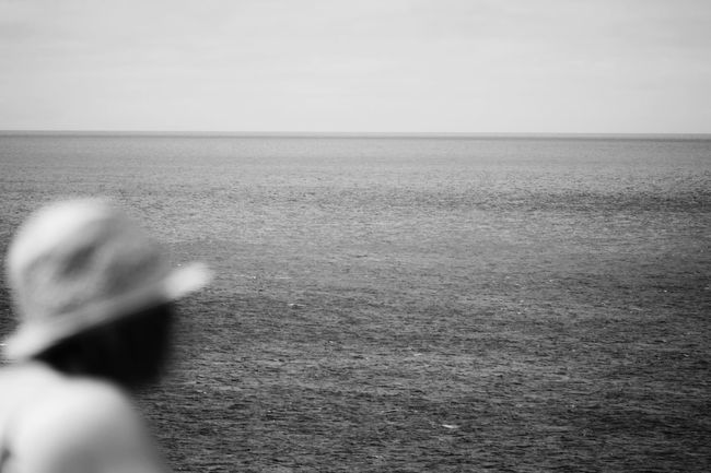 A million dreams of where we could ever be... Are only ever half the colour of where we are right now... Blackandwhite Blackandwhite Photography Beach Photography View From The Balcony Ocean View Girl Silhouette And Sky Hello World Relaxing Enjoying Life Serene Outdoors Minimalism Minimalism_bw Meeting Point Fuerteventura Looking Out To Sea. Cheese! EyeEm Best Shots Original Experiences
