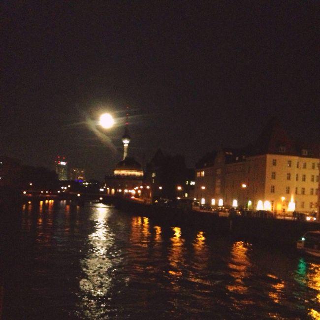 Brigdes Moonlightscape Alexanderplatz Tvtowerberlin Freidrichstraße