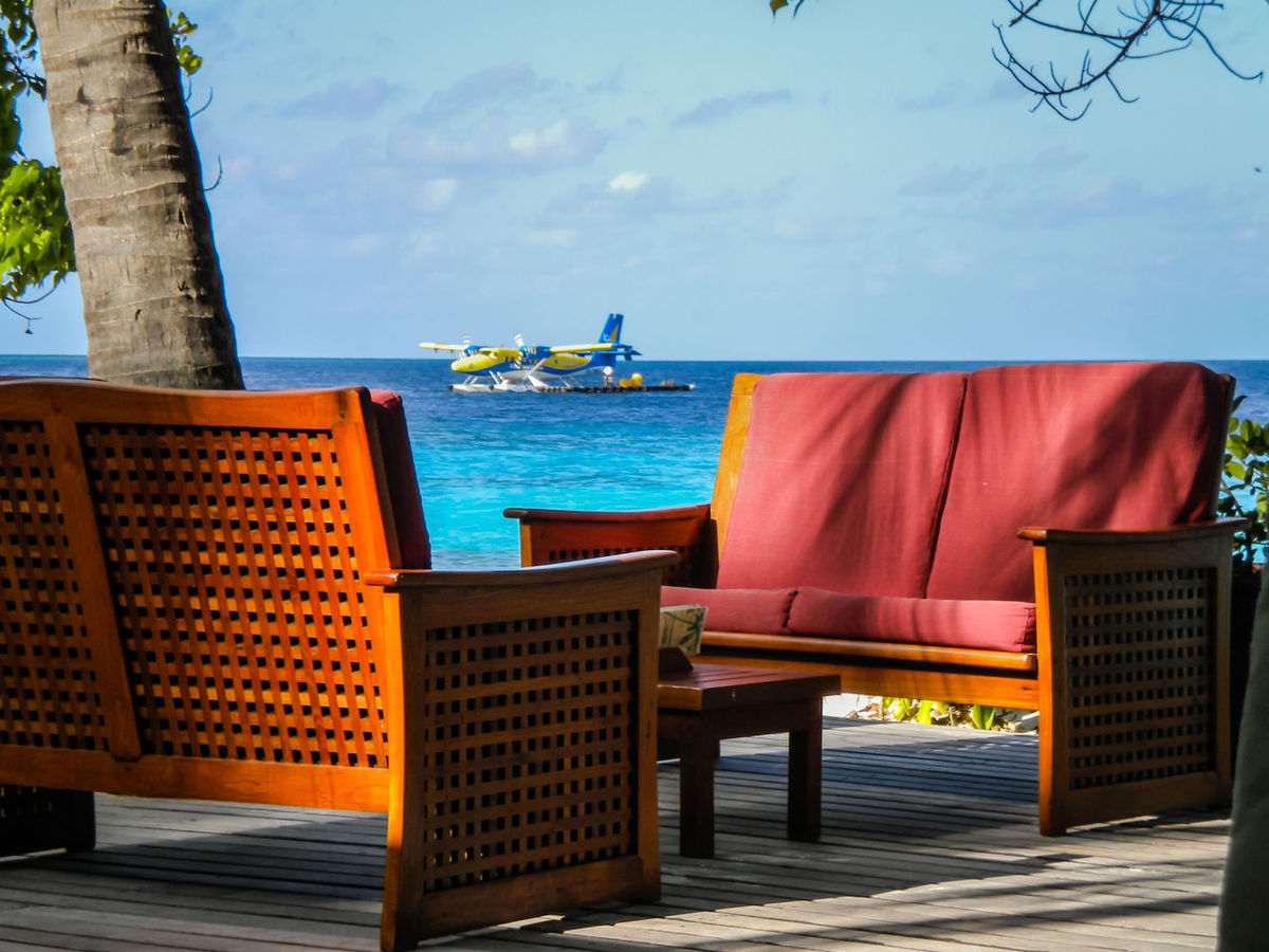 Beach Home Lifestyle Maledives Relaxing Sea Vacation Water Waterplane