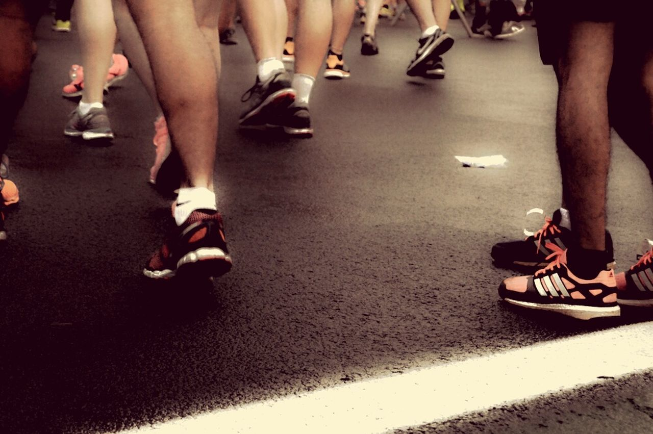 Low Section Human Leg Human Body Part Shoe Sport Competition People Sports Race Competitive Sport Athlete Starting Line Outdoors Adults Only Adult Sportsman Track And Field Athlete Day