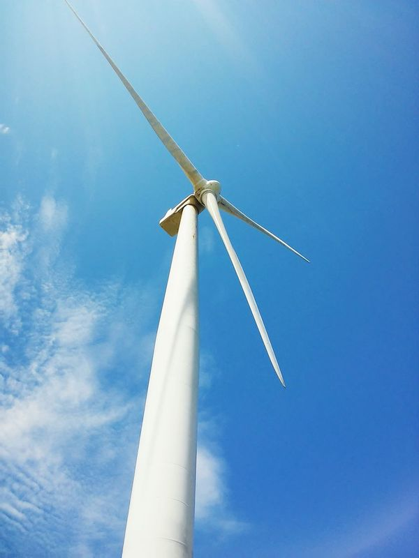 TakeoverContrast Low Angle View Blue Sky Wind Power Cloud Alternative Energy Clear Sky Windmill Industrial Windmill Day Environmental Conservation Philippines First Eyeem Photo Clouds Dramatic Angles Dramatic Sky
